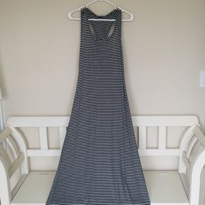 Criss Cross Back Striped Maxi